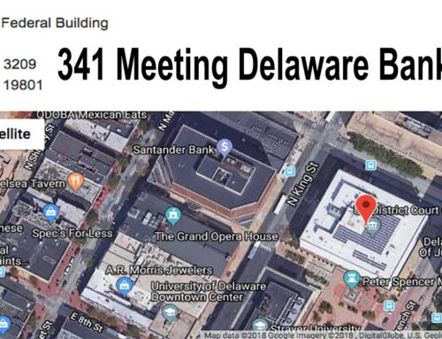 341 Meeting Delaware Bankruptcy