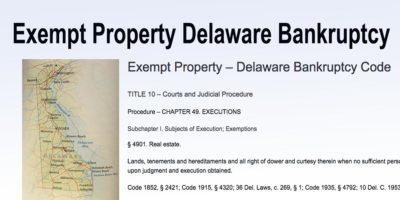 Exempt Property Delaware Bankruptcy