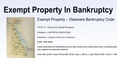 Exempt Property In Bankruptcy